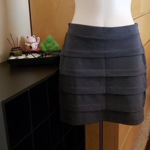 Basic House Stretch Gray Mini Skirt Size M Medium